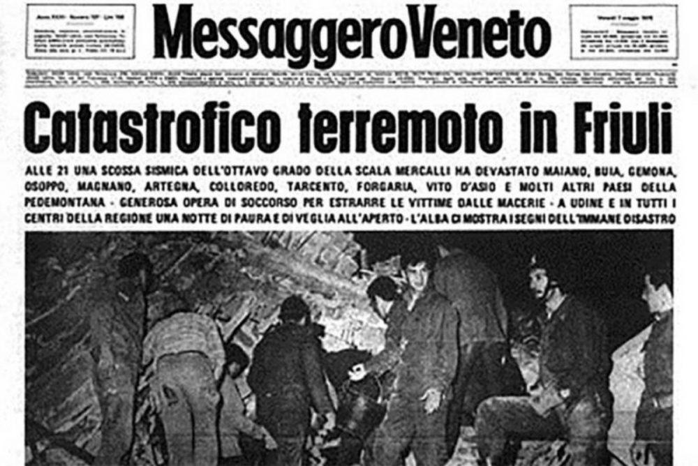 Friuli 6 maggio 1976 in 59 secondi 989 morti e 80 mila sfollati